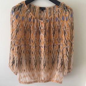 The Limited Sheer 3/4 Sleeve Blouse; Size L